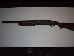 H219 Gun Metal Grey Shotgun after coating